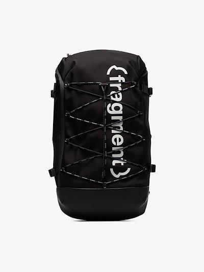 X Fragment black logo backpack