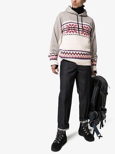 X Fragment Fair Isle knit hoodie
