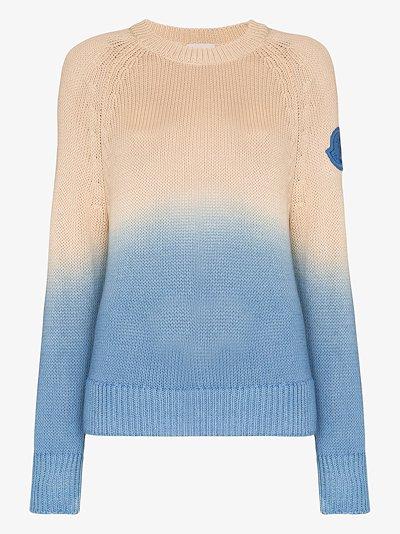 Girocollo Tricot dip-dye sweater