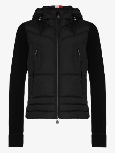 Black zip-up padded jacket