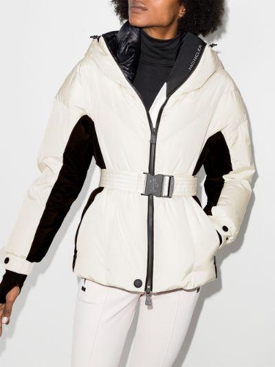 Frachey belted ski jacket