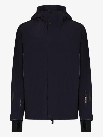 navy sizan hooded ski jacket