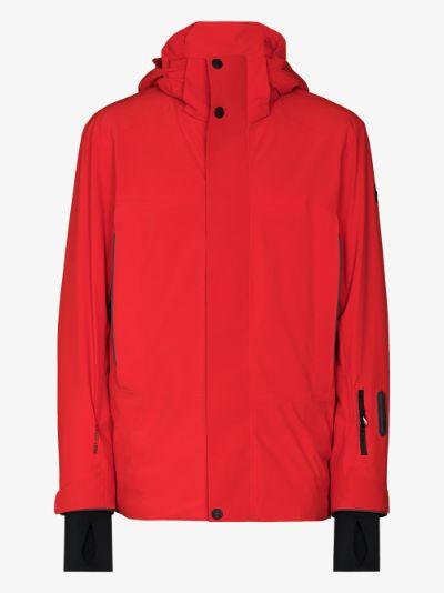 red Sizan hooded ski jacket