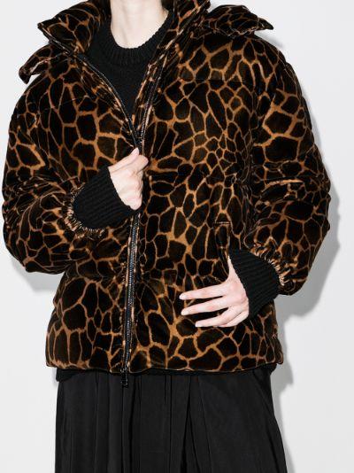 Kundogi giraffe print puffer jacket