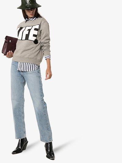 life print sweatshirt