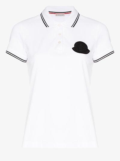 logo cotton polo shirt