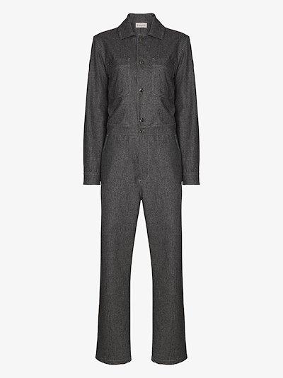 long sleeve wool boiler suit