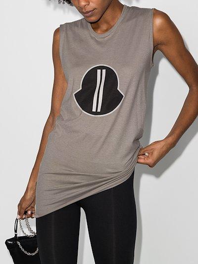 Logo print vest top