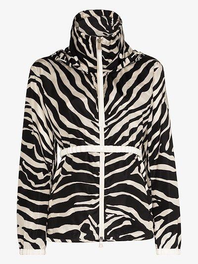 tiger print hooded jacket