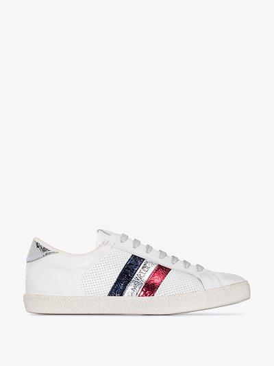 white Alyssa leather sneakers