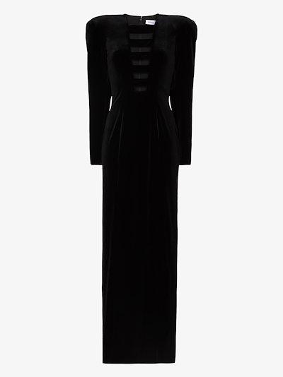 cutout velvet maxi dress