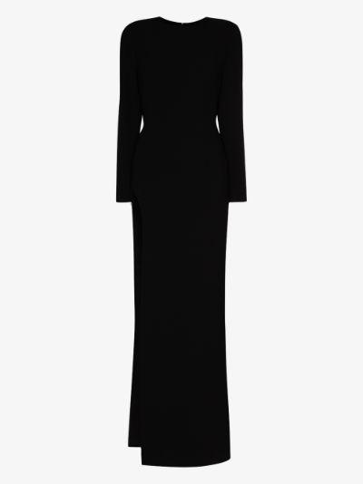 side slit gown
