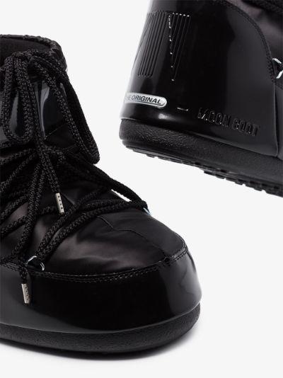 black Glance classic low snow boots
