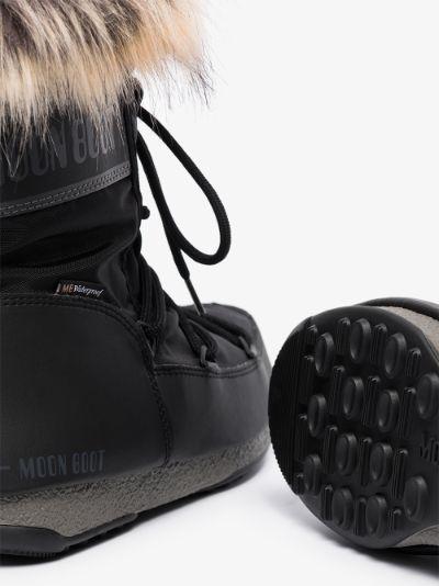 Black Monaco Flat Snow Boots