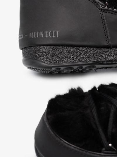 black Monaco low faux fur boots
