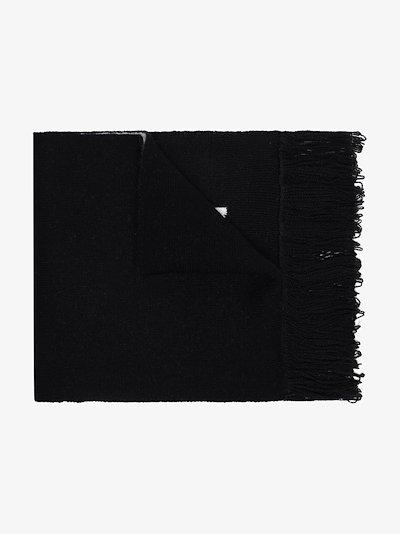 black logo scarf