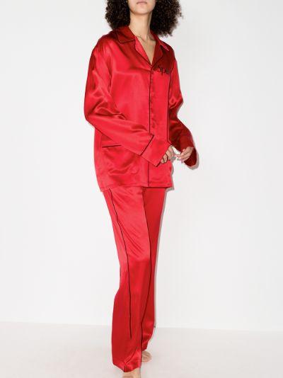 special print silk pyjamas