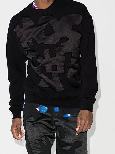 appliqué logo sweatshirt