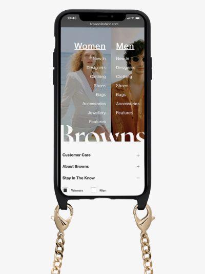 black iPhone 11 Pro chain case