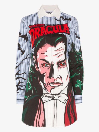 Dracula stripe shirt dress