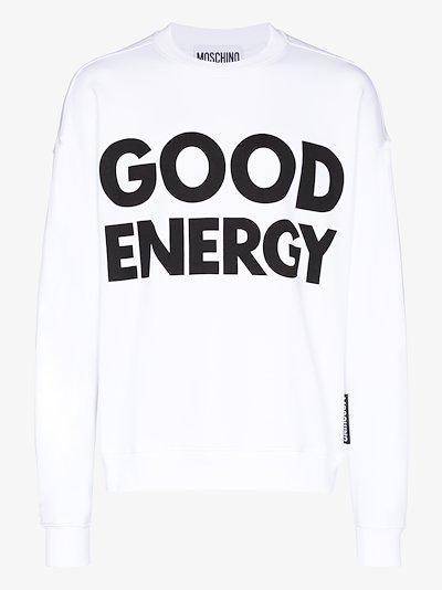 Good Energy print sweatshirt