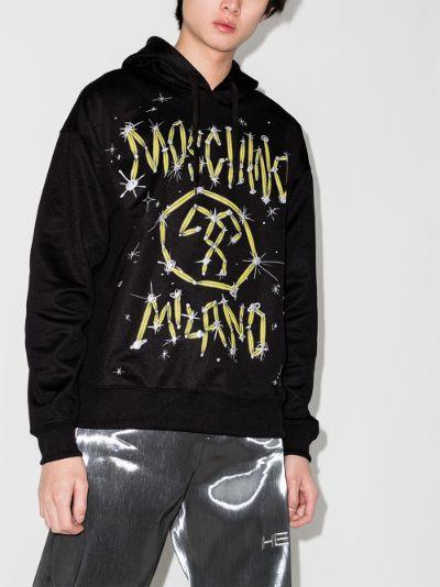 graffiti logo hoodie