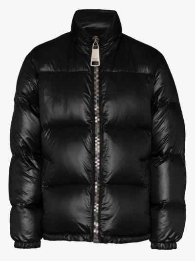 logo appliqué padded jacket