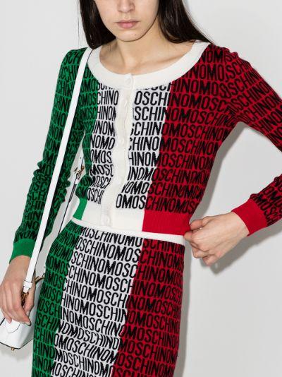 Lost & Found tricolour wool cardigan
