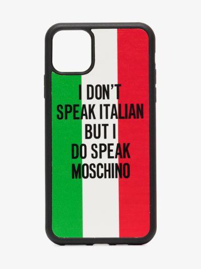 multicoloured slogan iPhone 11 case
