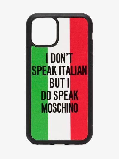 multicoloured slogan iPhone 11 Pro case