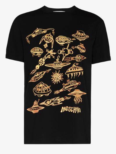 Spaceship print T-shirt