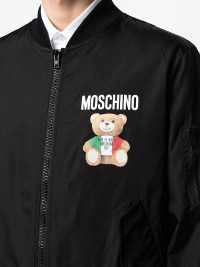 Teddy Bear print bomber jacket
