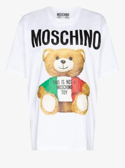 Teddy Bear print oversized T-shirt