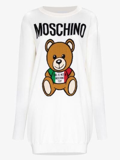 Teddy Bear wool mini dress