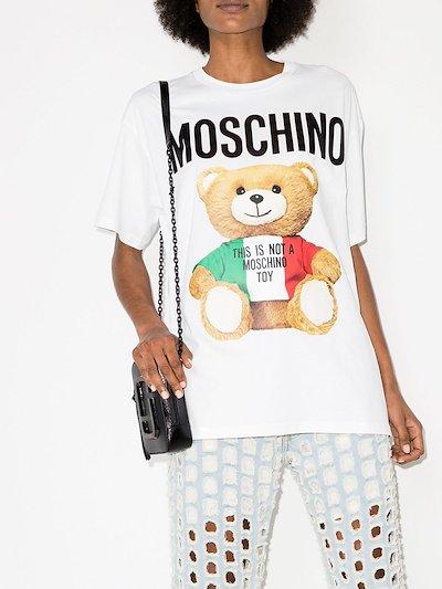 Teddy print oversized T-shirt