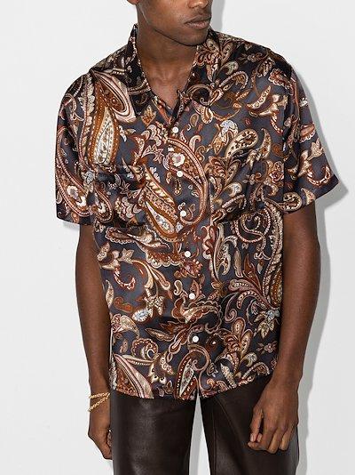 Campus paisley silk shirt