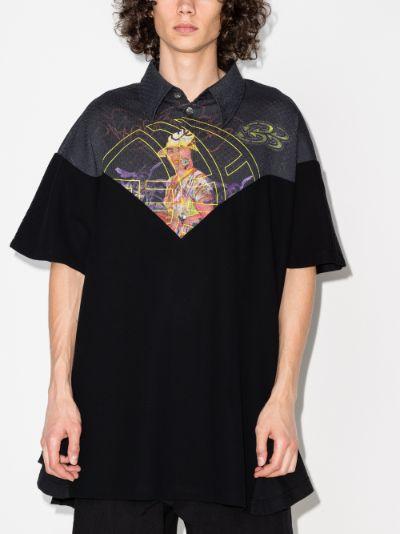 Potential husk printed polo shirt