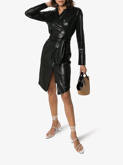 Cheap yellow long sleeve black leather dress cheap quality