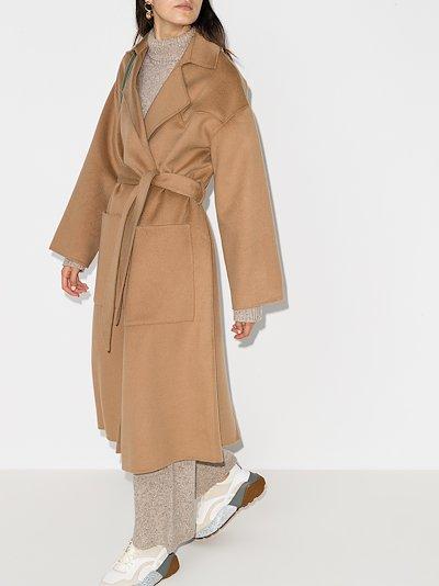 Alamo belted wool coat