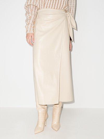 Amas faux leather midi skirt