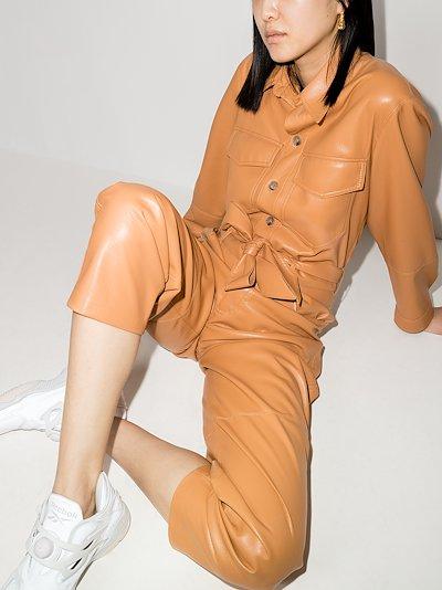 Ashton vegan leather jumpsuit