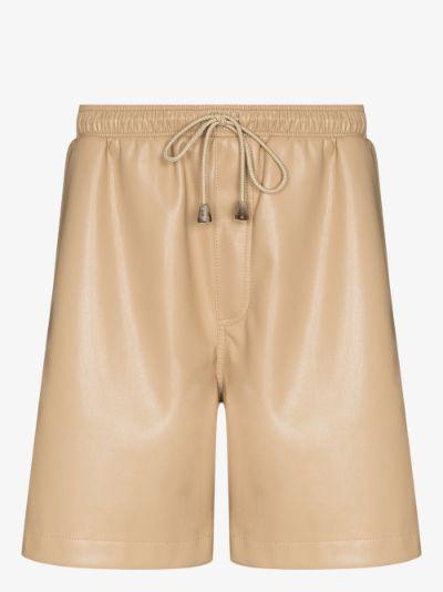 Doxxi vegan leather drawstring shorts