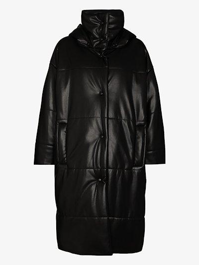 Eska faux leather padded coat