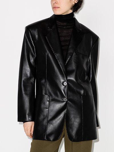 Evan faux Leather Blazer