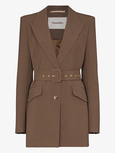 Honor belted blazer jacket