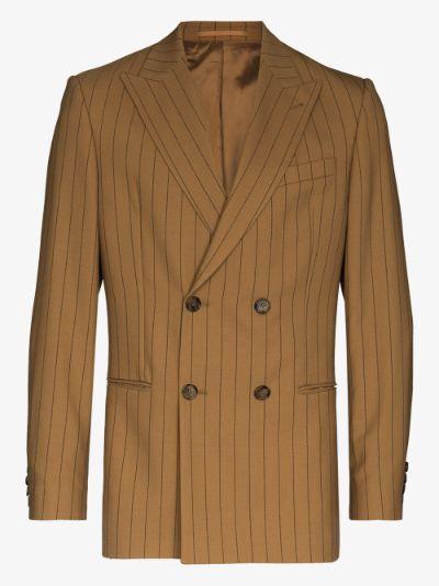 Malvin striped double-breasted blazer