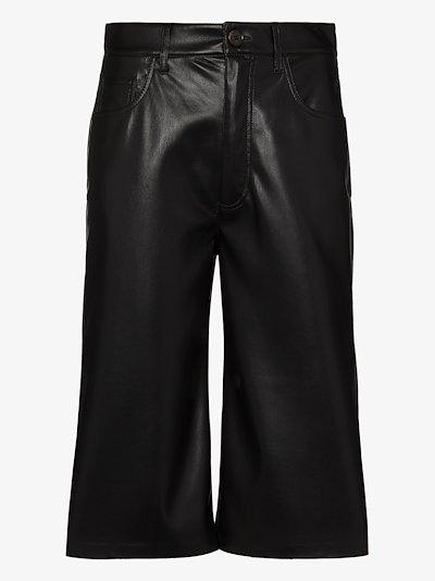 Nampeyo faux leather shorts