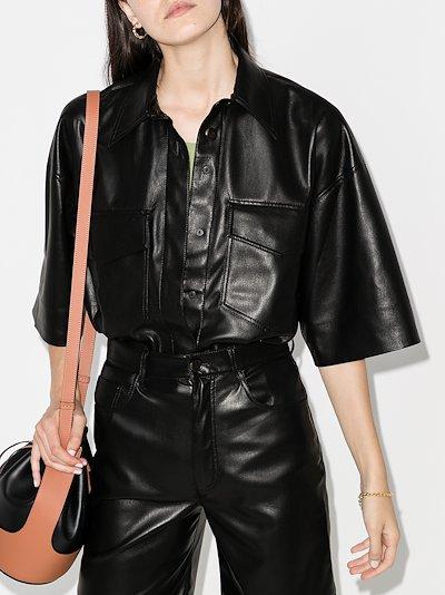 Roque faux leather shirt