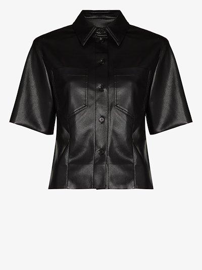 Sabine vegan leather shirt