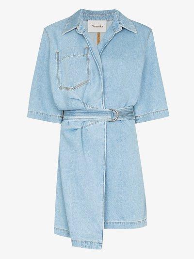 Sheba wrap denim shirt dress